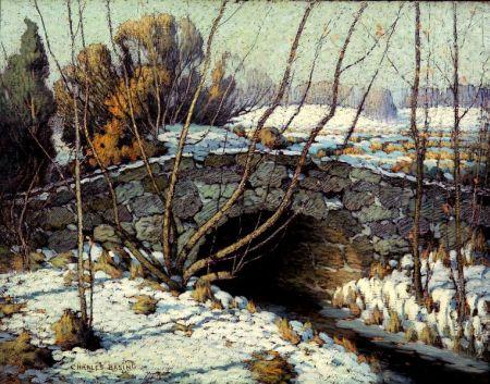 Charles Basing (American, 1865-1933)    Bridge Over the Stream