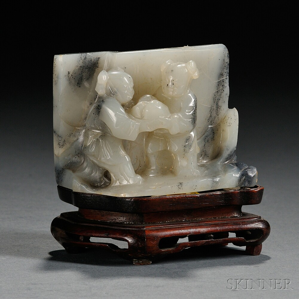 Jade Carving of Two Boys