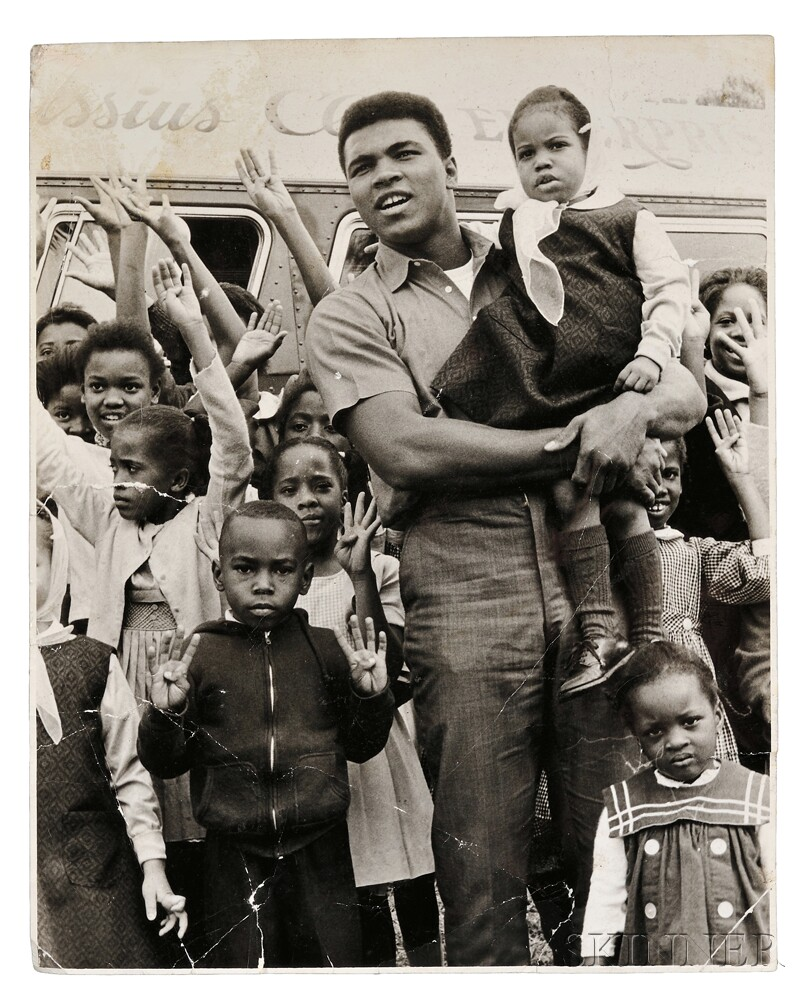 Malcolm X (1925-1965) and Muhammad Ali (b. 1942) Eight Photographs Taken by Robert Haggins (1922-2006)