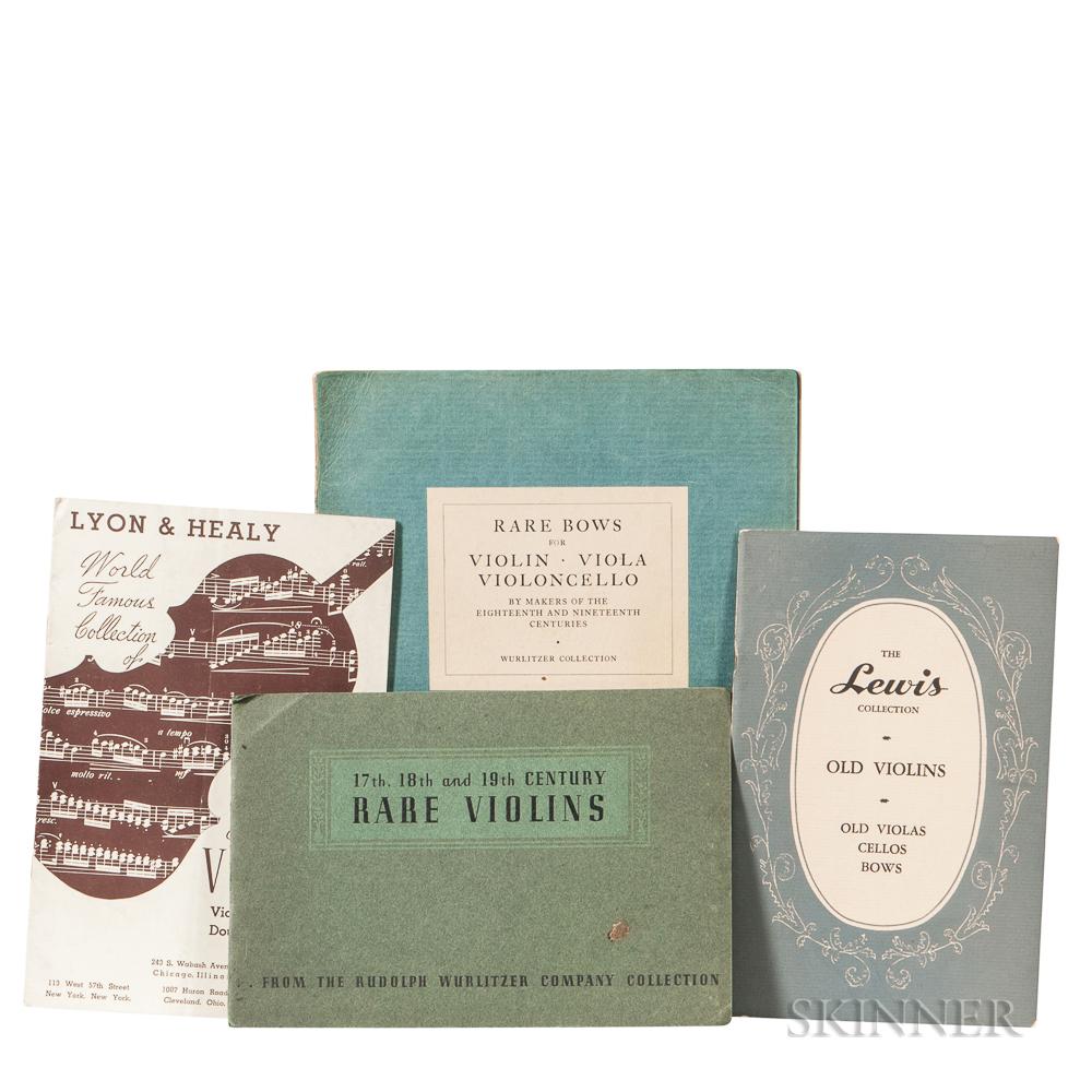 Four Violin Catalogs