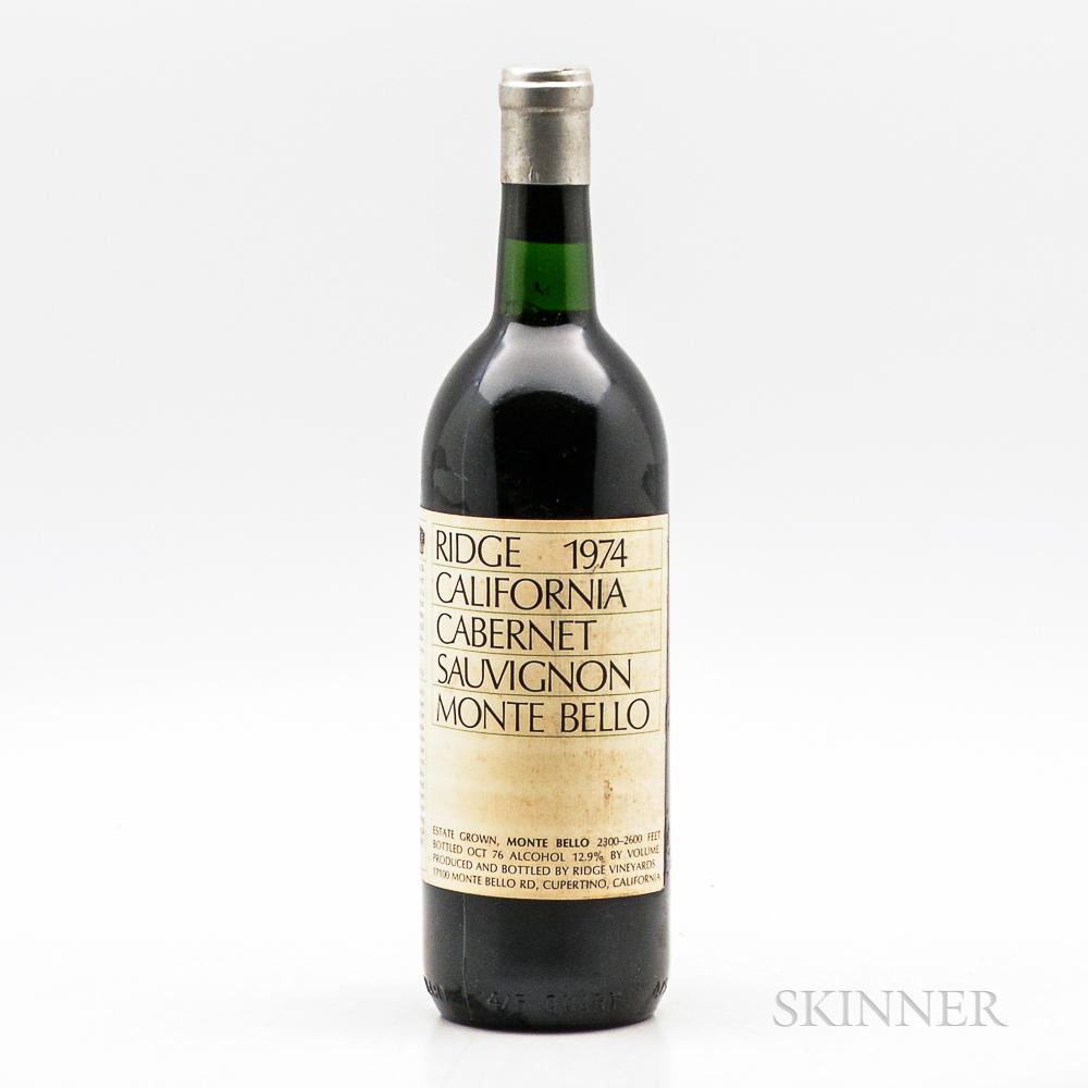 Ridge Monte Bello 1974, 1 bottle