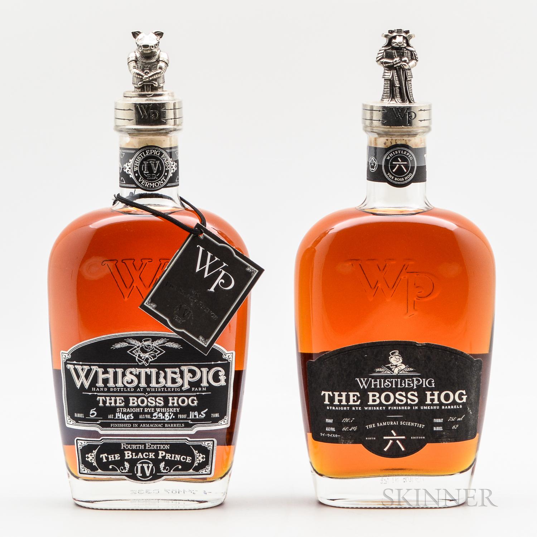 Whistle Pig Boss Hog, 2 750ml bottles