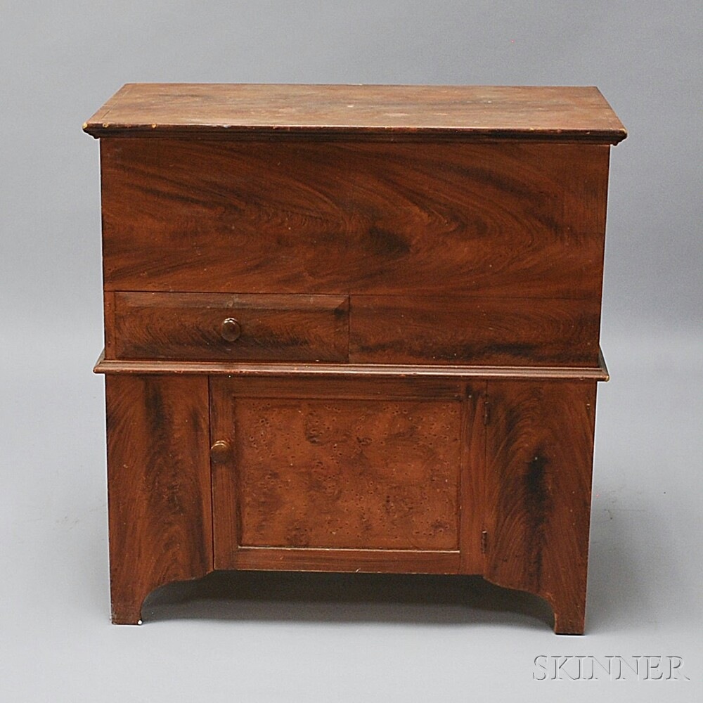 Federal Grain-painted Commode