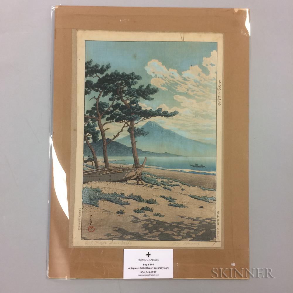Kawase Hasui (1883-1957), Pines at Miho Seashore