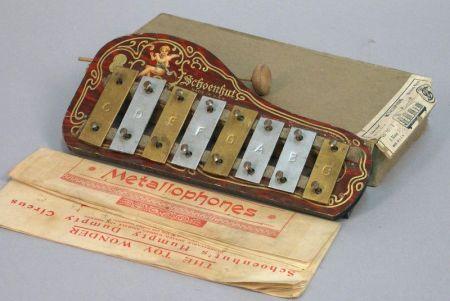 Boxed Schoenhut Metallophone