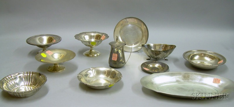 Eleven Pieces of Sterling Silver Tableware