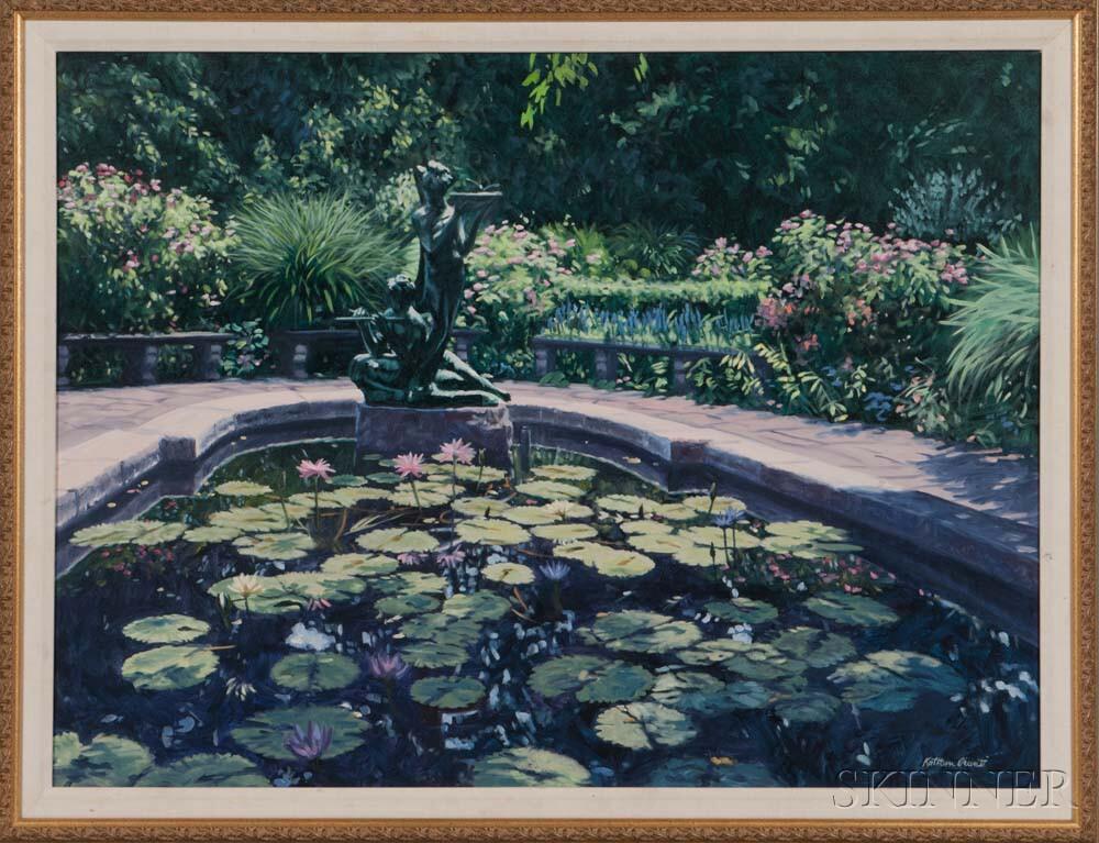 Kathleen Piunti (American, b. 1928)    Fountain