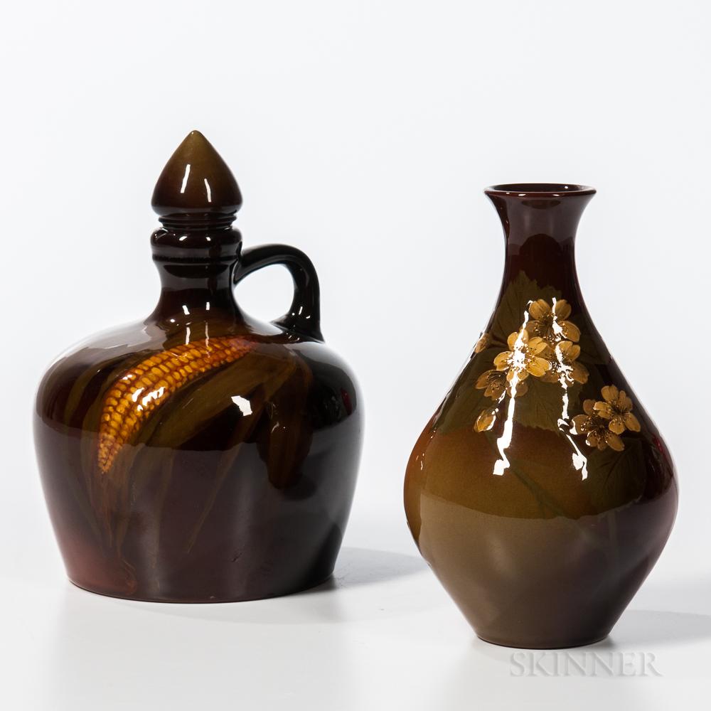 Two Rookwood Pottery Standard Glaze Items