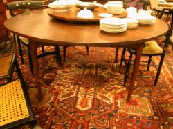 Provincial Round Dining Table with Lazy Susan.