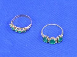 Two Gold and Emerald Bands.