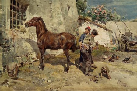 Attributed to Enrico Coleman (Italian, 1846-1911)    Shoeing