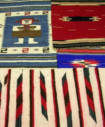 Four Small Native American Southwest Weavings.Four Small Native American...