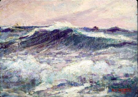 Lot of Two American Coastal Scenes Including: Frederick Julian Isley (American, 1855-1933), On the Coast; William H. Partridge (America