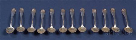 Set of Twelve Shiebler Sterling Demitasse Spoons