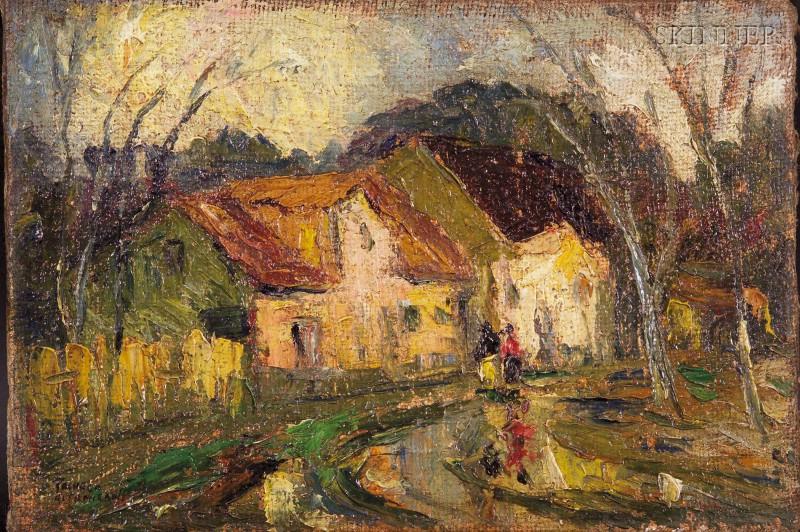 Arturo Pacheco Altamirano (Chilean, 1903-1978)      Village Road