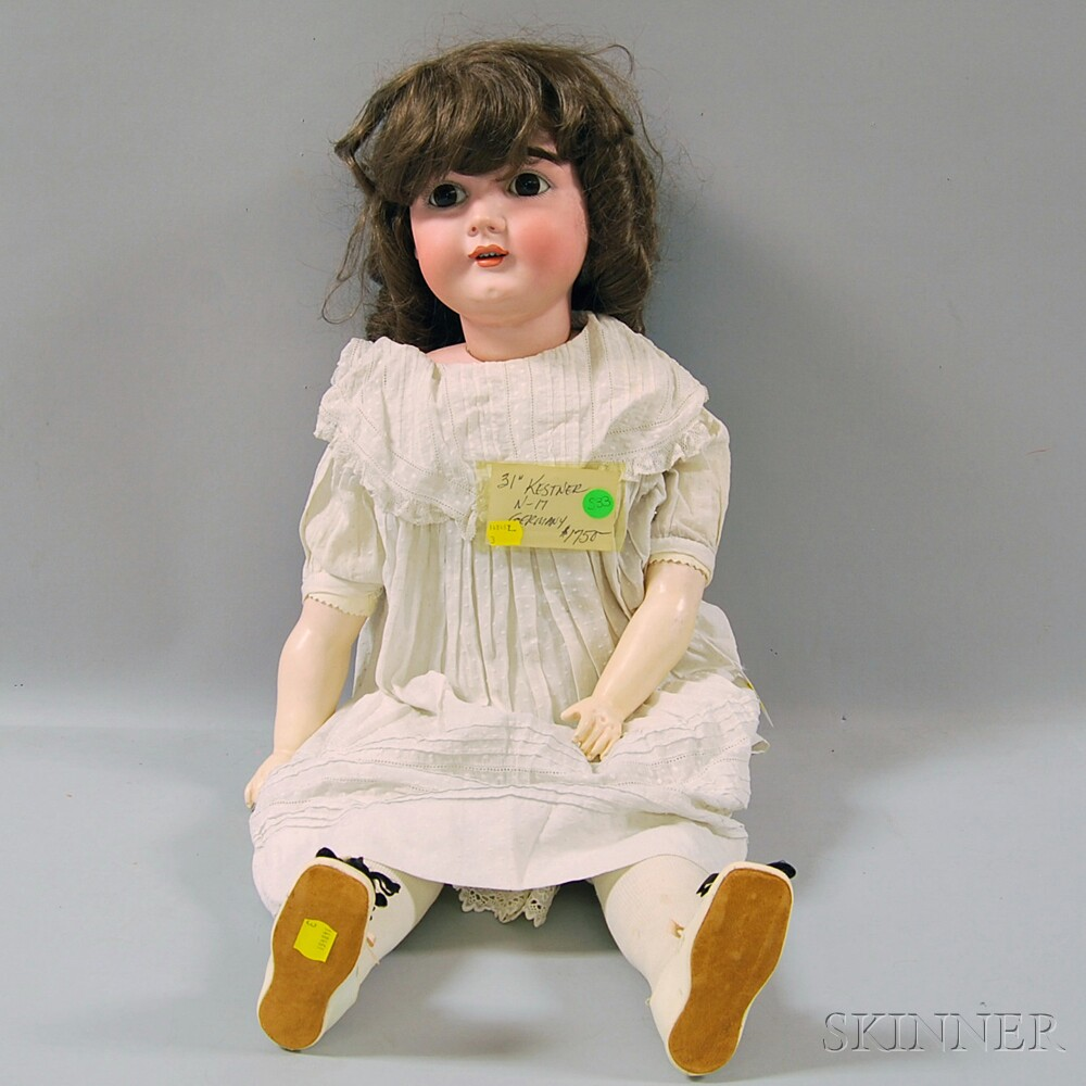 Large Kestner Socket Head Doll on Cloth Body