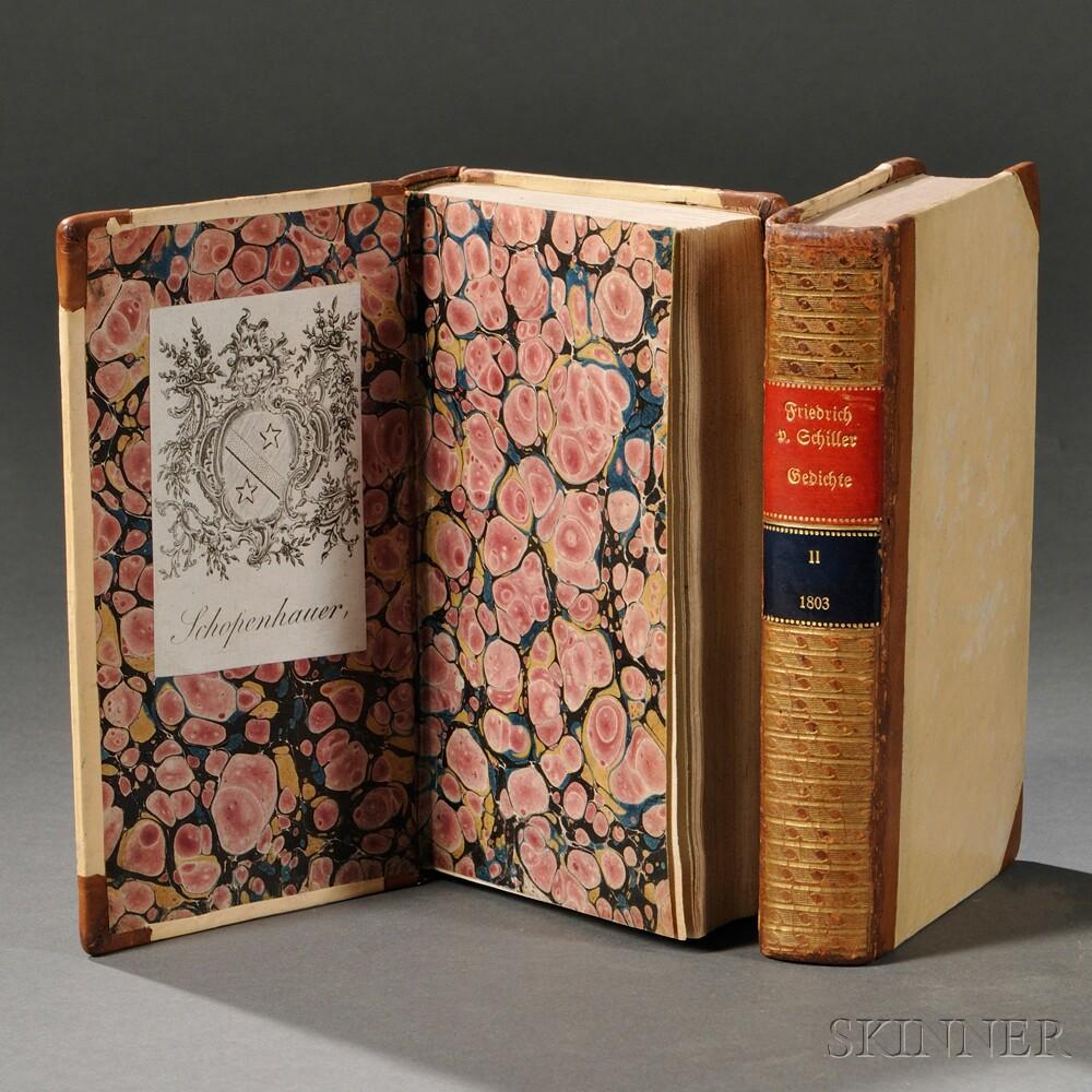 Schiller, Johann Christop Friedrich von (1759-1805) Gedichte [Erster Theil / Zweyter Theil].
