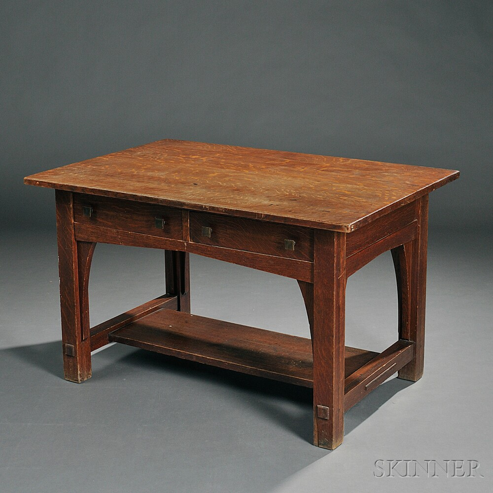 Limbert Arts Crafts Desk Sale Number 2770b Lot Number 9 Skinner Auctioneers