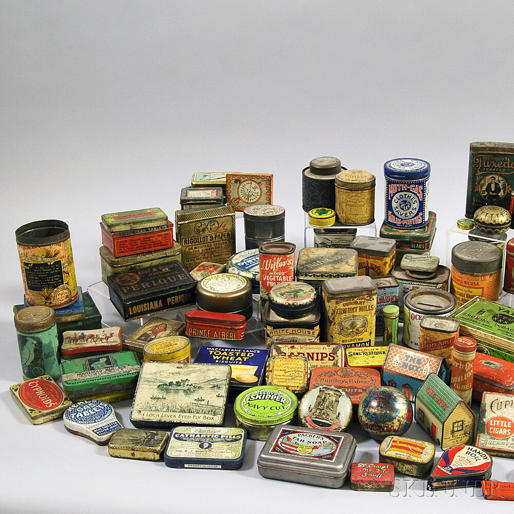 Large Group of Advertising Tins