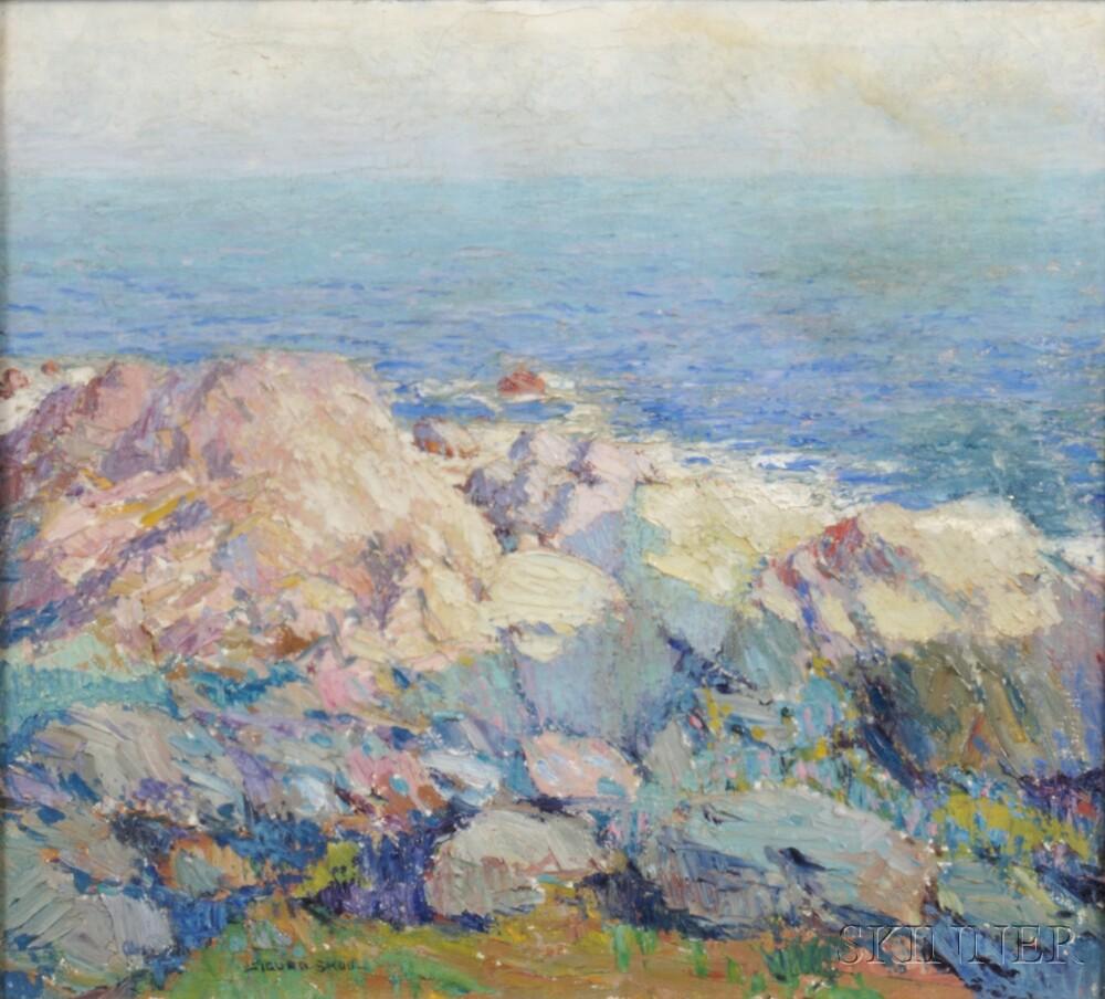 Sigurd Skou (Norwegian/American, 1875-1929)      Rocky Seascape