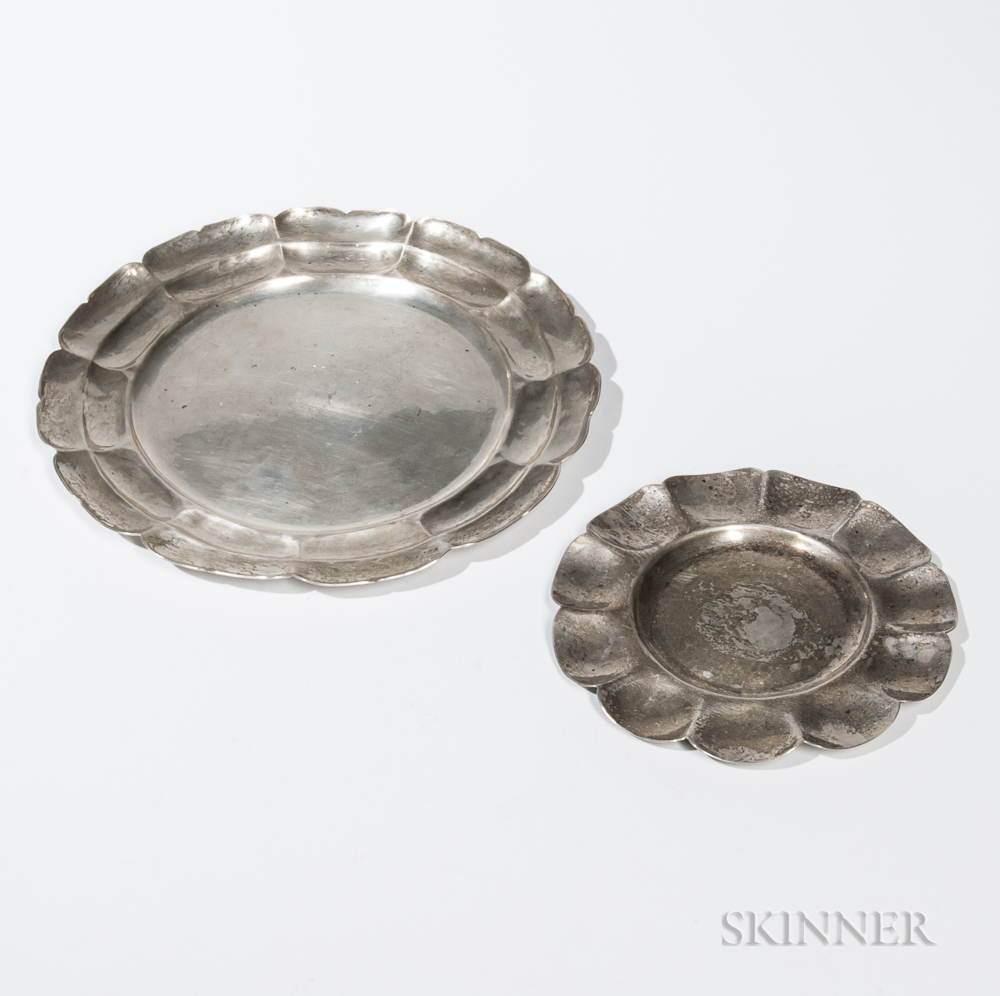 Two Franklin Porter Sterling Silver Plates