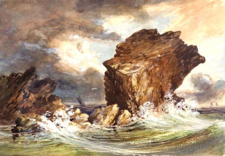 Henry Hitchings (American, 1824-1902)    Pulpit Rock, Nahant