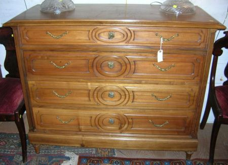 French Neoclassical-style Walnut Chest of Drawers