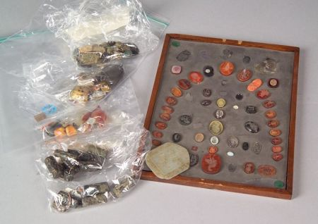 Lot of Approximately Sixty Hardstone Carvings