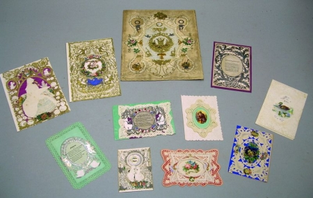 Group of Mid-19th Century Embossed and Paper Lace Valentines