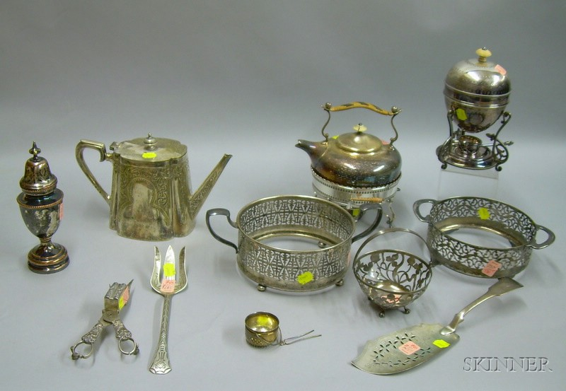 Group of Sterling and Silver Plated Tableware
