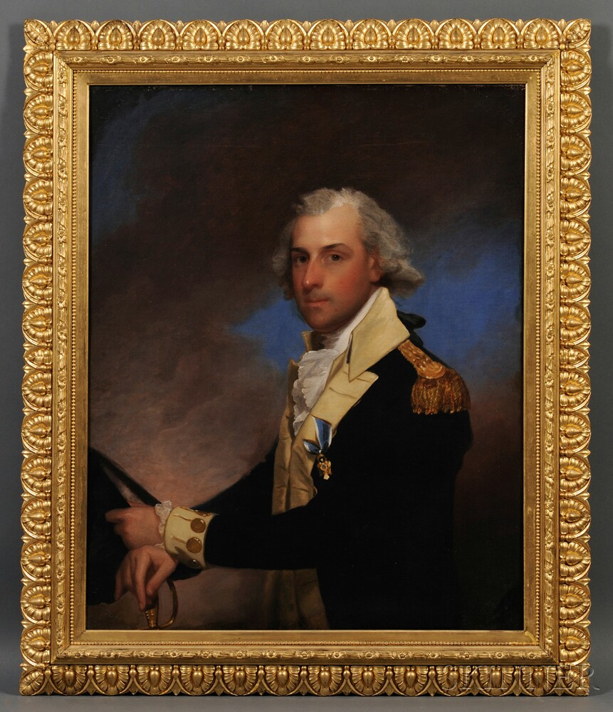 After Gilbert Stuart, Possibly Mary Rutherford (Clarkson) Jay (New York, 1786-1838) Portrait of General Matthew Clarkson (1758-1825). U