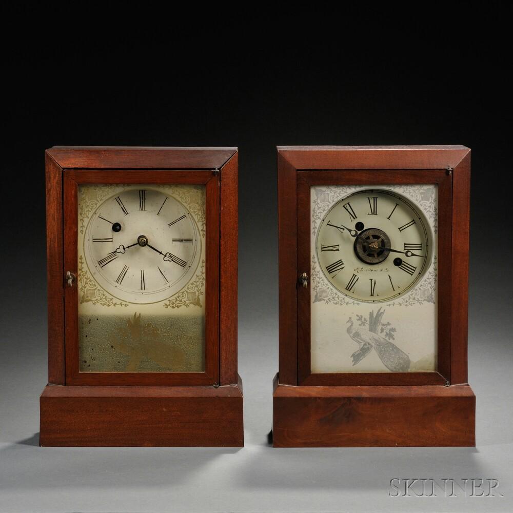Pair of Atkins Cottage Clocks