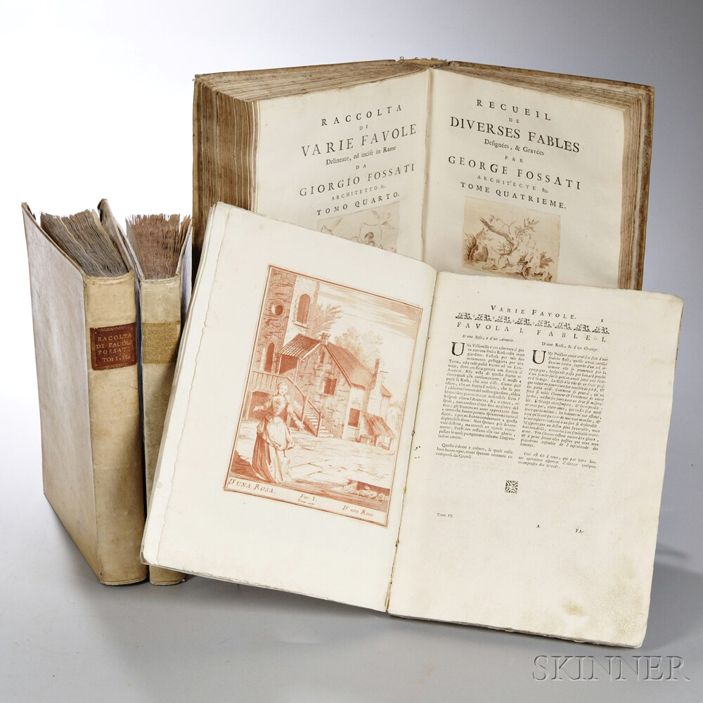 Fossati, Giorgio (1706-1778) Raccolta di Varie Favole Delineate, ed Incise in Rame.
