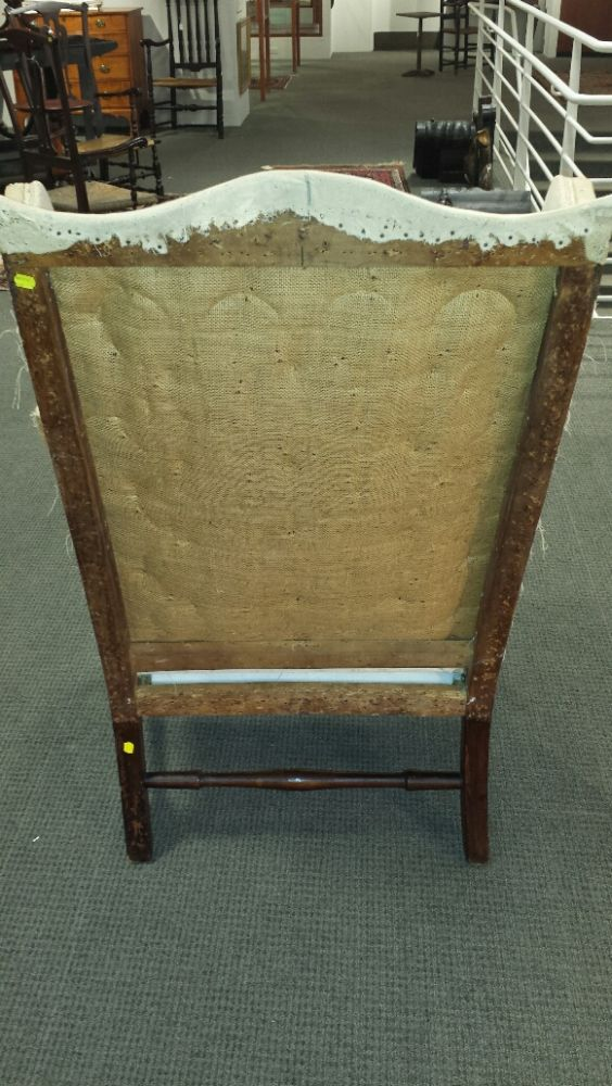 Upholstered Mahogany Easy Chair