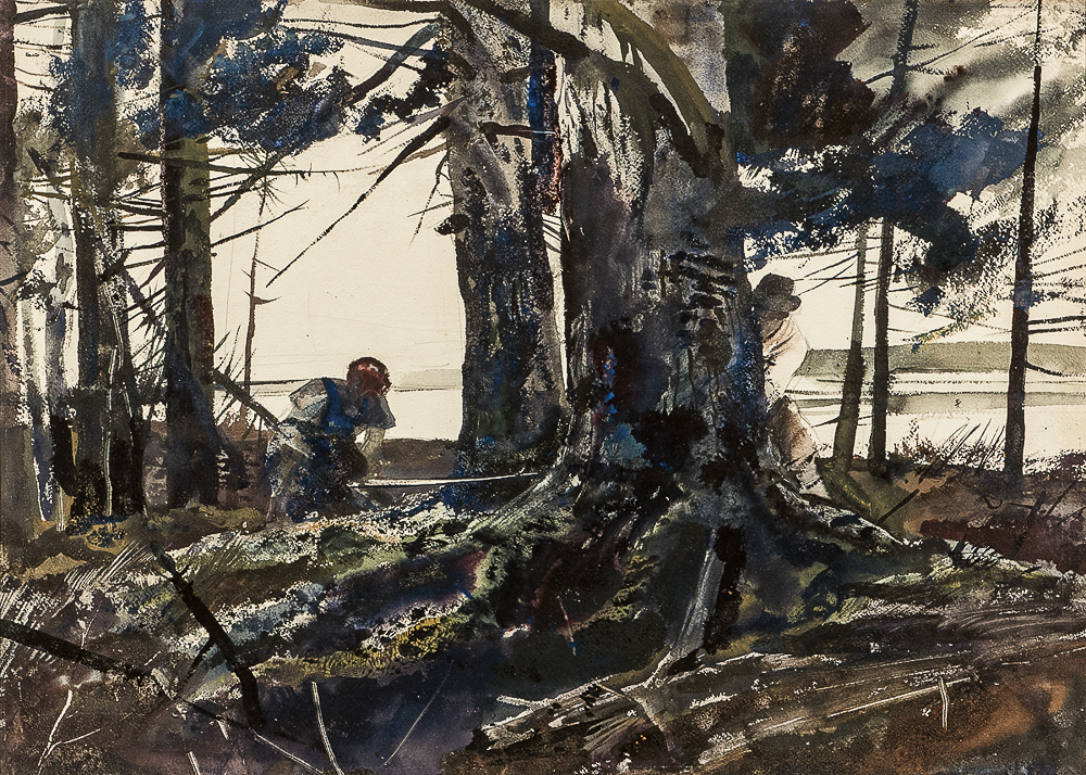 Andrew Newell Wyeth (American, 1917-2009)      Spruce Timber