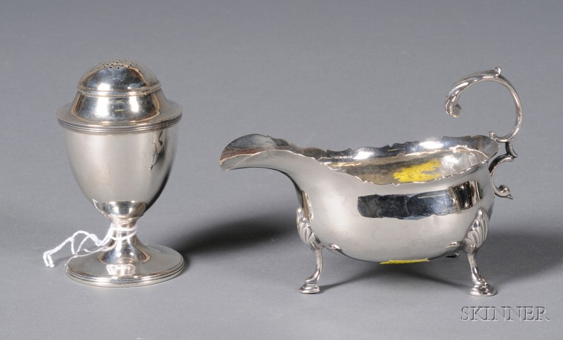 Two Small Georgian Silver Tablewares