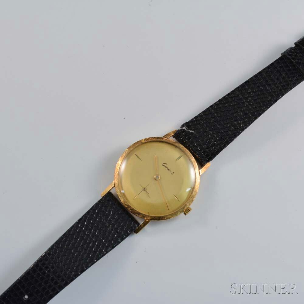 18kt Gold Swiss Man's Wristwatch
