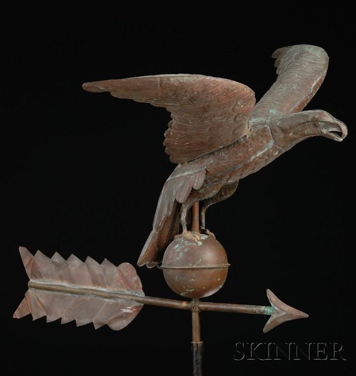 Molded Sheet Copper Eagle Weather Vane