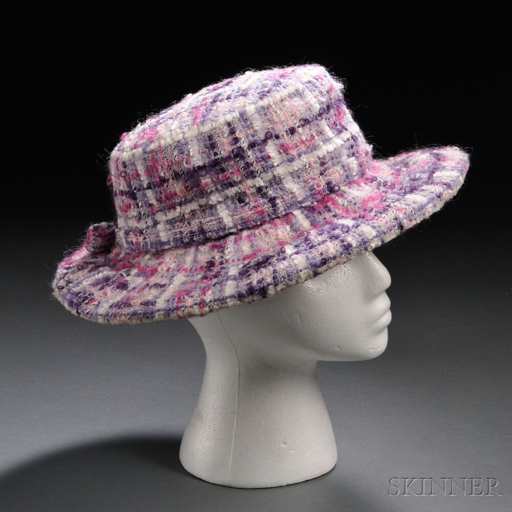 Lavender, White, and Pink Wool Hat