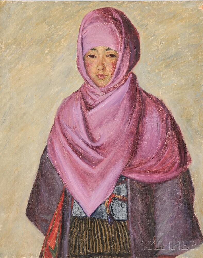 Lilla Cabot Perry (American, 1848-1933)      The Purple Shawl