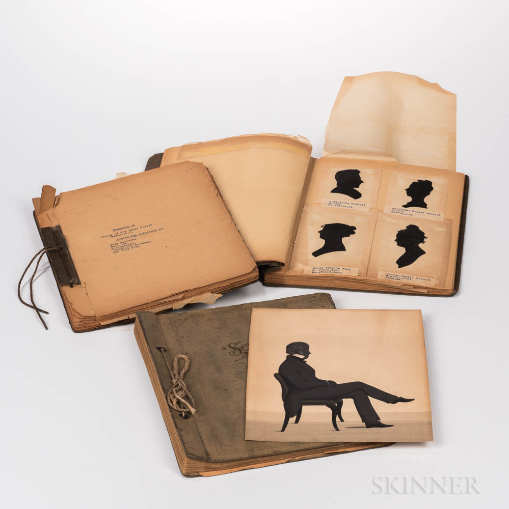 Three Bound Scrapbooks of Silhouettes by Demors