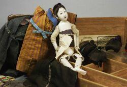 Early Boxed Grand Kabuki Theatre Tamabasuro Doll