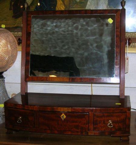 Regency Mahogany and Inlay Dressing Mirror