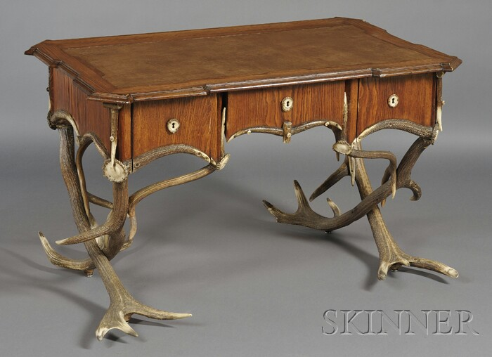 Austro-German Antler Desk