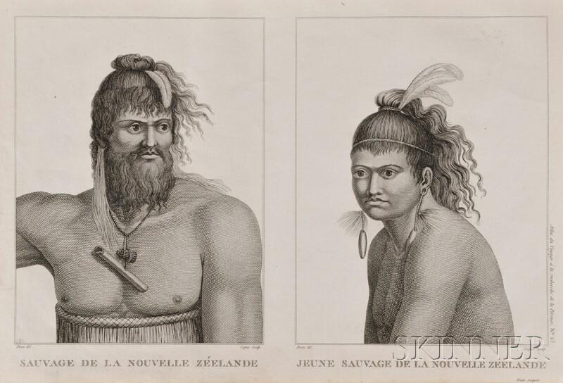 (Travel and Exploration, Perouse), La Perouse, Jean Francois Galaup de (1741-1788) a and Labillardiere, Jacques Julien Houton de (1755-