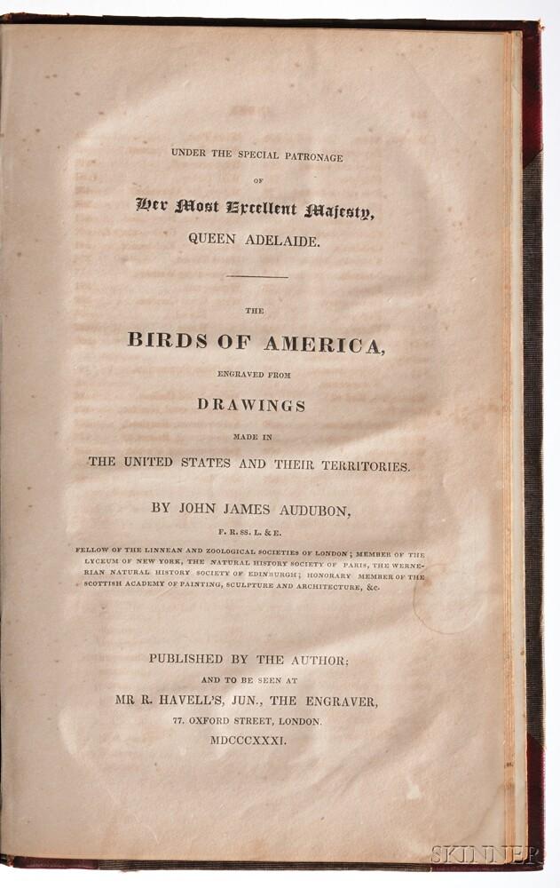 Audubon, John James (1785-1851) Ornithological Biography,   with the Prospectus for The Birds of America.