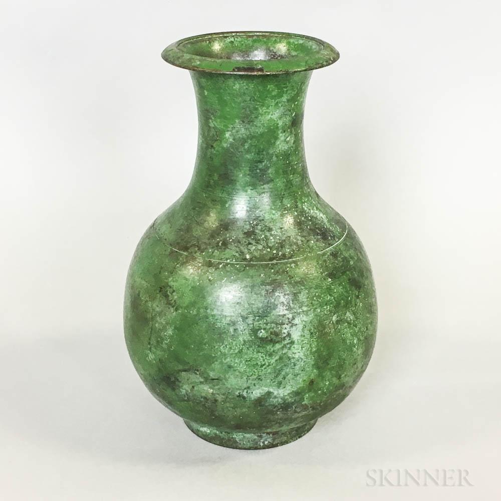 Chinese Bronze Gu-form Vase
