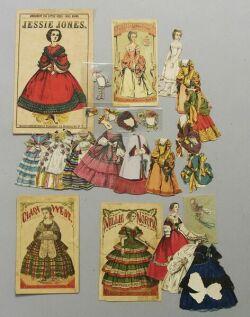 Lot of Cut McLoughlin Lady Paper Dolls