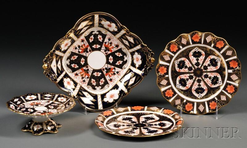 Four Royal Crown Derby Porcelain Items