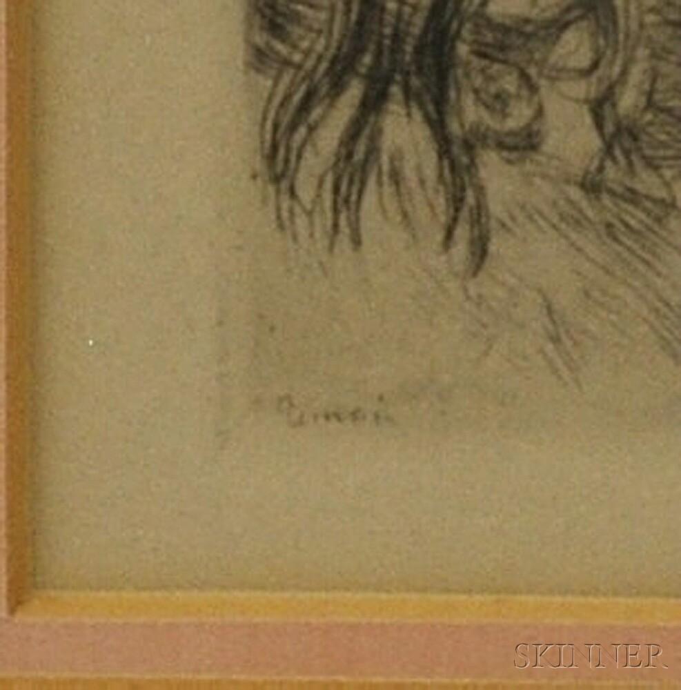 Pierre-Auguste Renoir (French, 1841-1919)      Le Chapeau Épinglé
